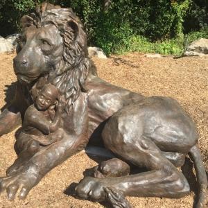 fear not, bronze, sculpture, cancer, survivors, park